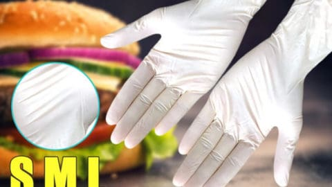 KANGSHOU 100*Pcs Disposable PVU BBQ Gloves Waterproof Antibacterial Anti-virus Glove Tableware